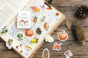 46pcs Autumn Forest Diary Sticker Kawaii Planner Scrapbooking Diary Stickers.