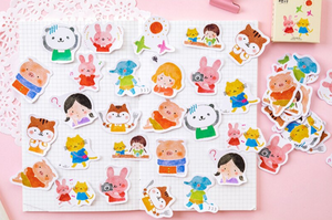 My Animal Friends Cute Kids Scrapbook Journal Craft Stickers