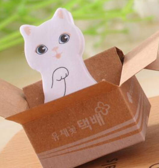 Mini Cat Sticky Memo Notes Bookmarks Kawaii Stationery