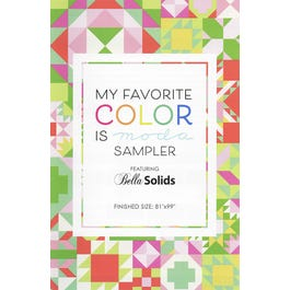 My Favorite Color Is Moda Sampler Pattern