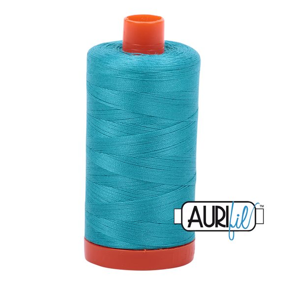 Aurifil Mako Cotton Thread 50WT - 2810 Turquoise