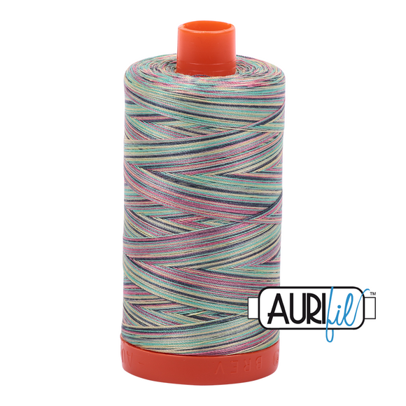 Aurifil Mako Cotton Thread 50WT - 3817 Marrakesh Varigated