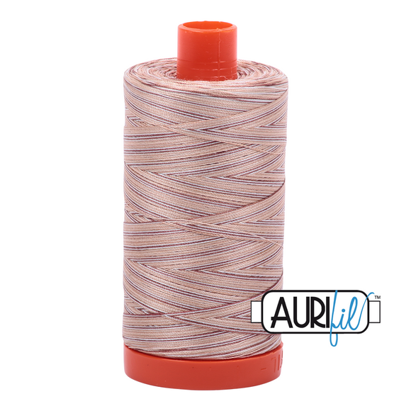 Aurifil Mako Cotton Thread 50WT - 4666 Biscotti Varigated
