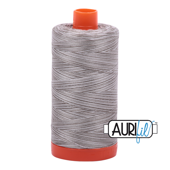 Aurifil Mako Cotton Thread 50WT - 4670 SIlver Fox Varigated