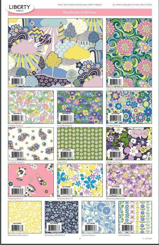Liberty Fabrics Carnaby - Daydream Colorway 15pc Fat Quarter Bundle