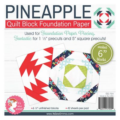 6 in Pineapple Quilt Block Foundation Paper Pad