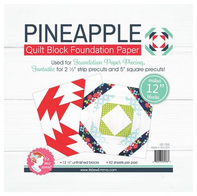12 in Pineapple Quilt Block Foundation Paper Pad