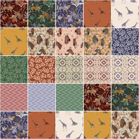 Magic of Serengeti 18pc Fat Quarter Bundle