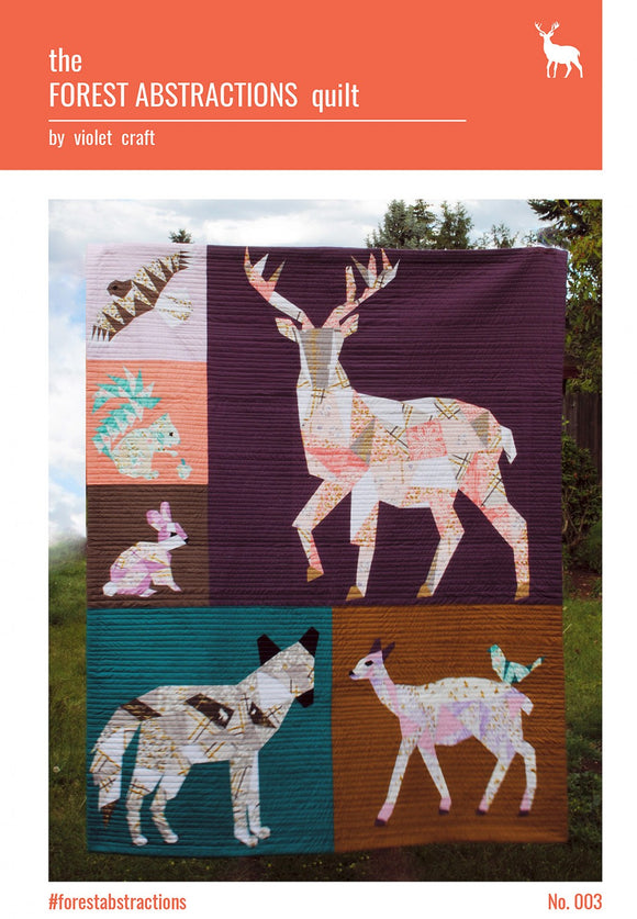 Forest Abstractions Quilt by Violet Craft