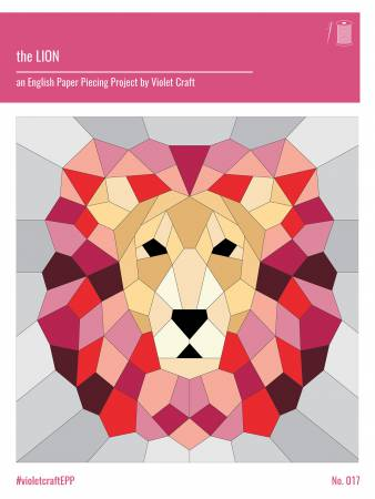 Lion English Paper Piecing Project by Violet Craft