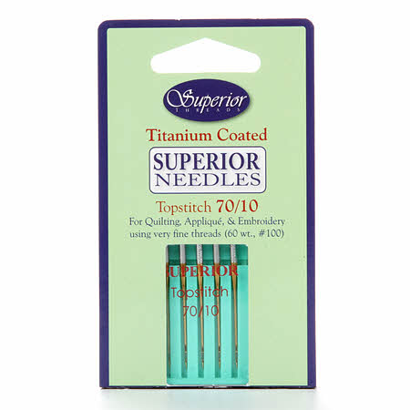 Superior Topstitch Machine Needle Size 70/10 5ct