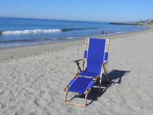 Reclining Beach Lounge Chair (seated 13 inches off ground) with leg rest beachgenie