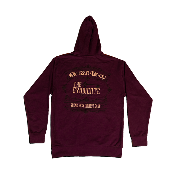 Maroon Socal Co-Op & The Syndicate Hoodie