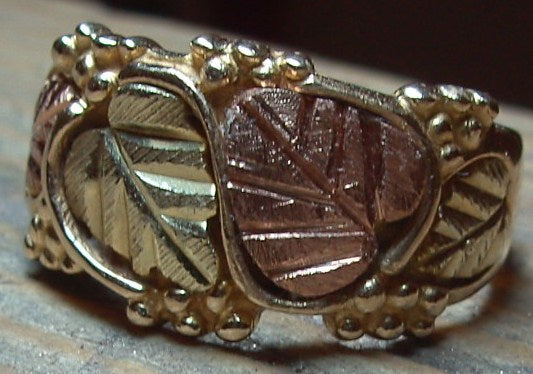 Gold in 9ct Leaf Design Ring