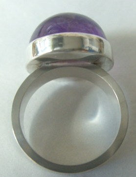 Amethyst Cabochon Silver Ring SOLD OUT