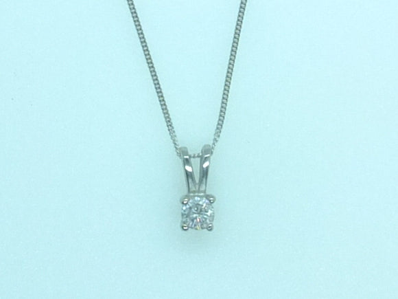 .015 CT White gold Diamond necklace