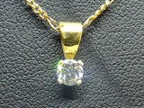 0.25 CT Diamond 18 CT gold necklace