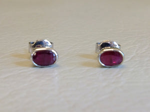 White Gold and Ruby 18ct Set