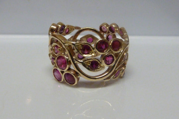 18ct Gold Ruby Designed Ring SOLD OUT