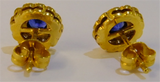 18ct Gold & Sapphire Earrings
