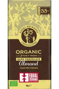 Organic Dark Chocolate with Almonds