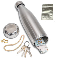 Stainless Steel Diversion Water Bottle Safe with a Food Grade Smell Proof Bag