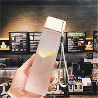 New Square Frosted Transparent Plastic Water Bottle
