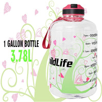 QuiFit 3.78L 2.2L 1.3L 128oz Gallon Water Bottle with Straw