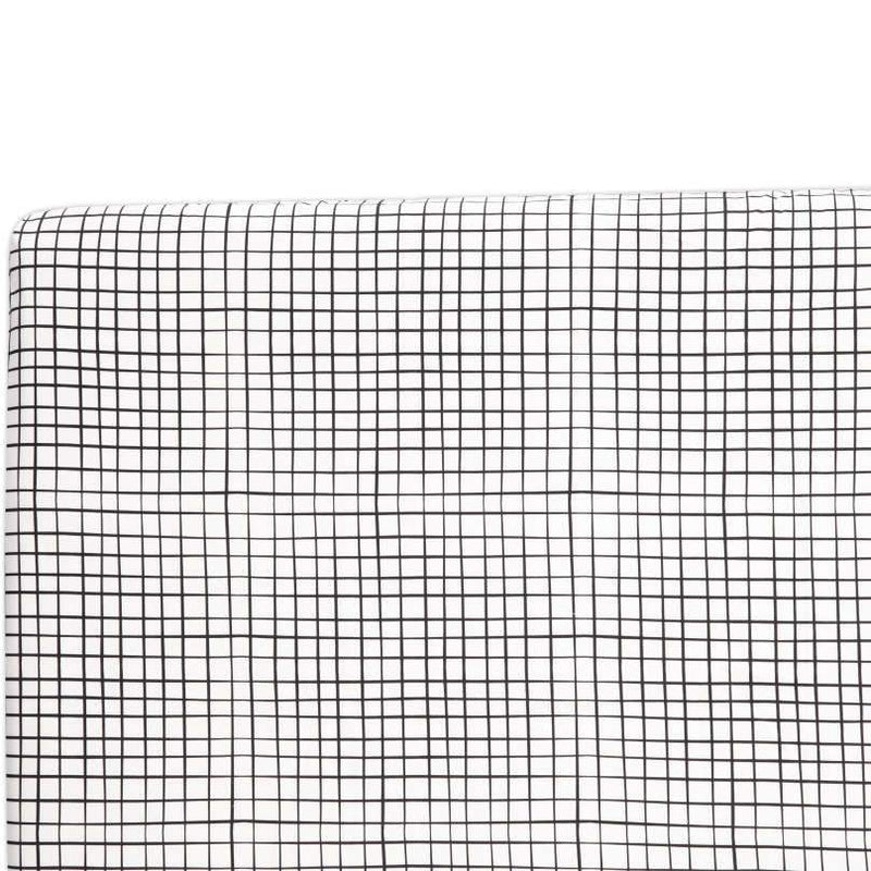 Babyletto Tuxedo Grid Fitted Crib Sheet