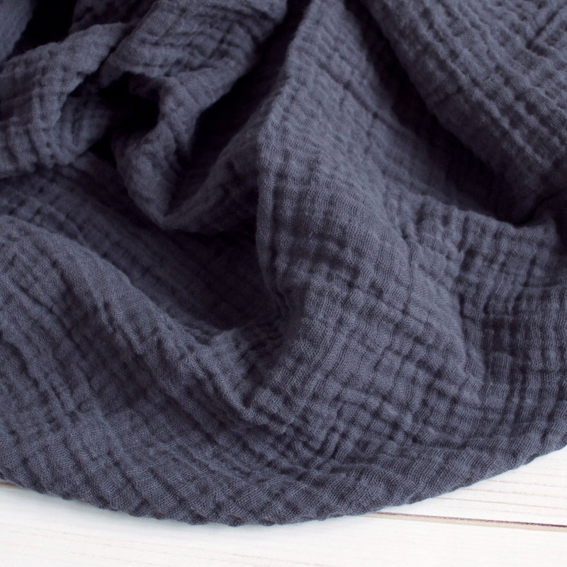 Sugar + Maple Classic Muslin Swaddle - Charcoal