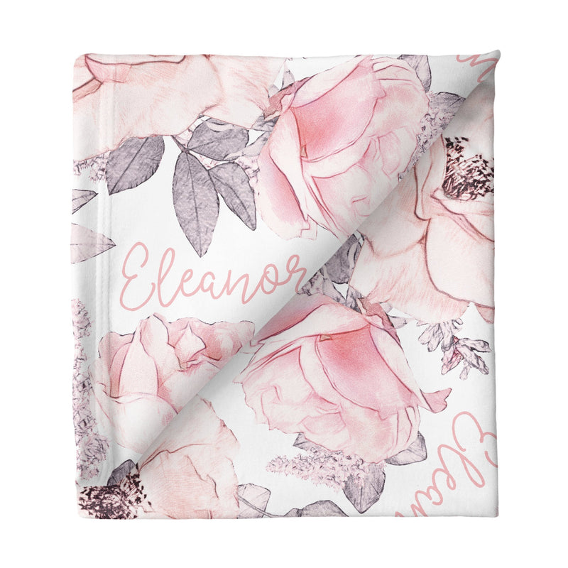 Sugar + Maple Small Stretchy Blanket - Wallpaper Floral