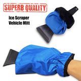 Car Ice Scraper Mitt Warm Car Windshield Snow Shovel Glove