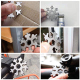 18 in 1 Snowflake Multipurpose Tool