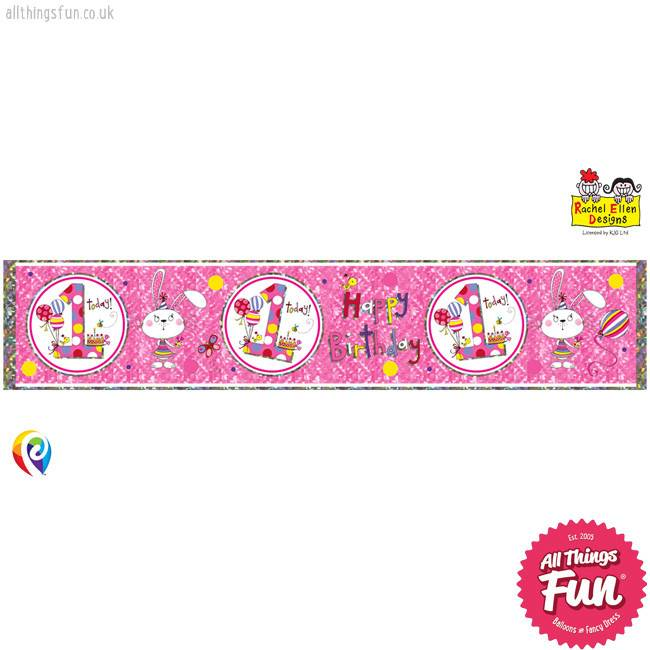 Age 1 Bunny Foil Banner