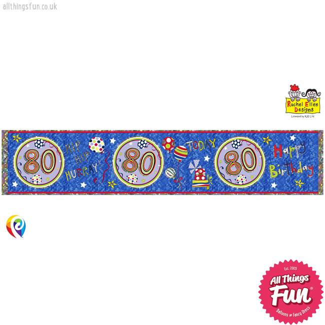 Age 80 Happy Birthday Foil Banner