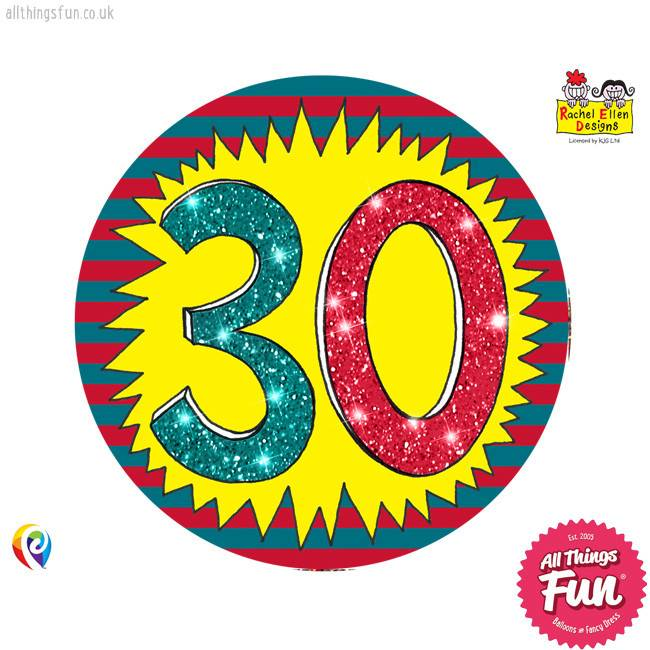 Age 30 Wow Birthday Badge