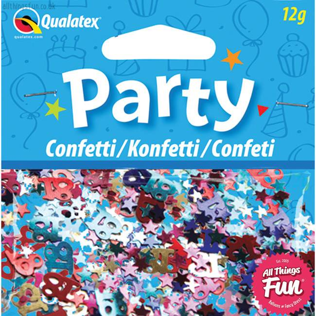 Age 18 Multi-Coloured Birthday Confetti