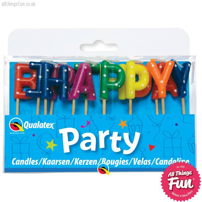 Candles -Happy Birthday Multi-Coloured