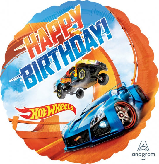 Printed Foil - 18 Inch - Hot Wheels Happy Birthday