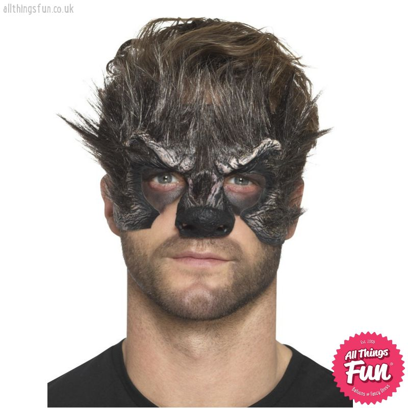 *SP* Foam Brown Latex Werewolf Head Prosthetic with Adhesive