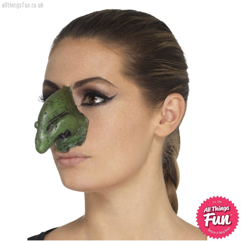 *SP* Foam Green Latex, Witches Nose Prosthetics with Adhesive