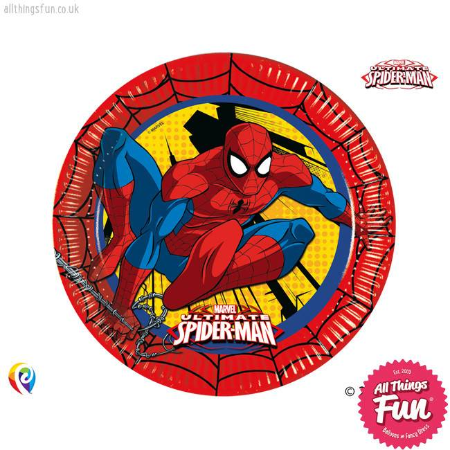 *DISC* Ultimate Spiderman - Party Paper Plates 8Ct