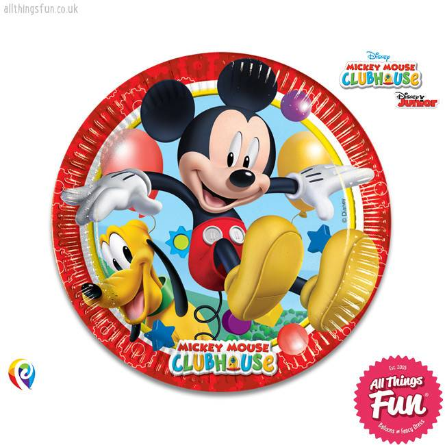 Playful Mickey - Party Paper Plates (23cm) 8Ct