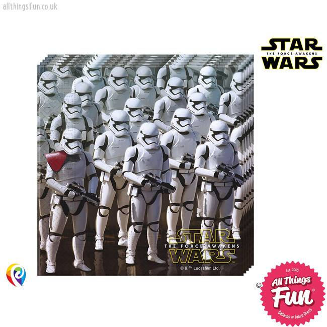 *DISC* Star Wars The Force Awakens - Party Napkins 20Ct