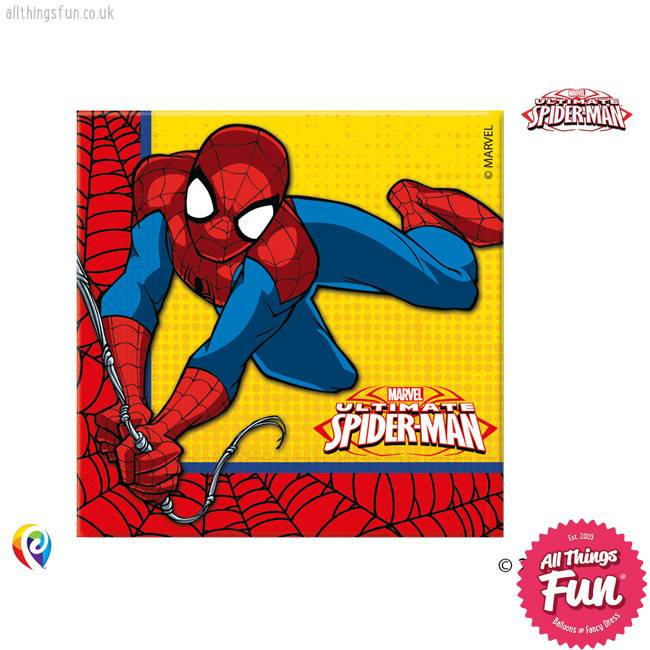 *DISC* Ultimate Spiderman - Party Napkins 20Ct