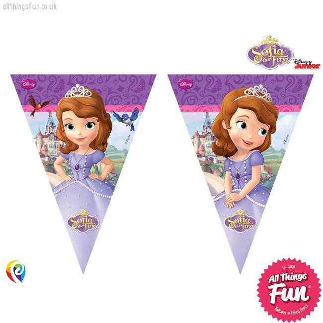 Sofia The First - Banner - Triangle Flag (9)