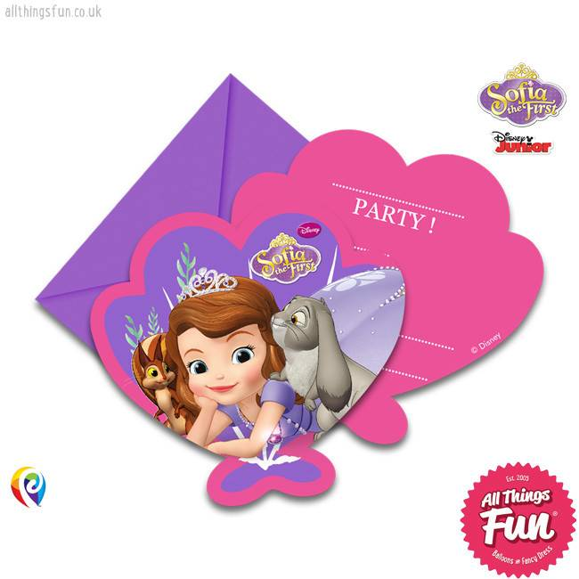 Sofia The First - Invitations & Envelopes 6Ct