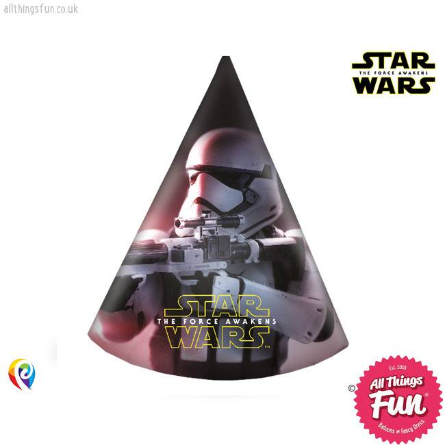 *DISC* Star Wars The Force Awakens - Party Hats 6Ct