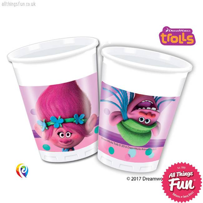 Trolls - Party Plastic Cups 8Ct