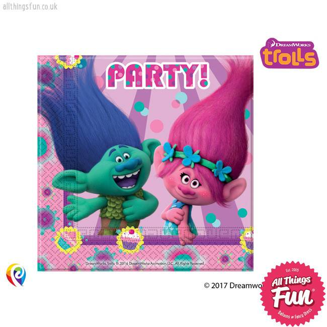 Trolls - Party Napkins 20Ct